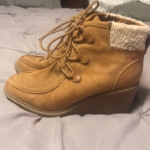 Mad Love Wedge Ankle Boot